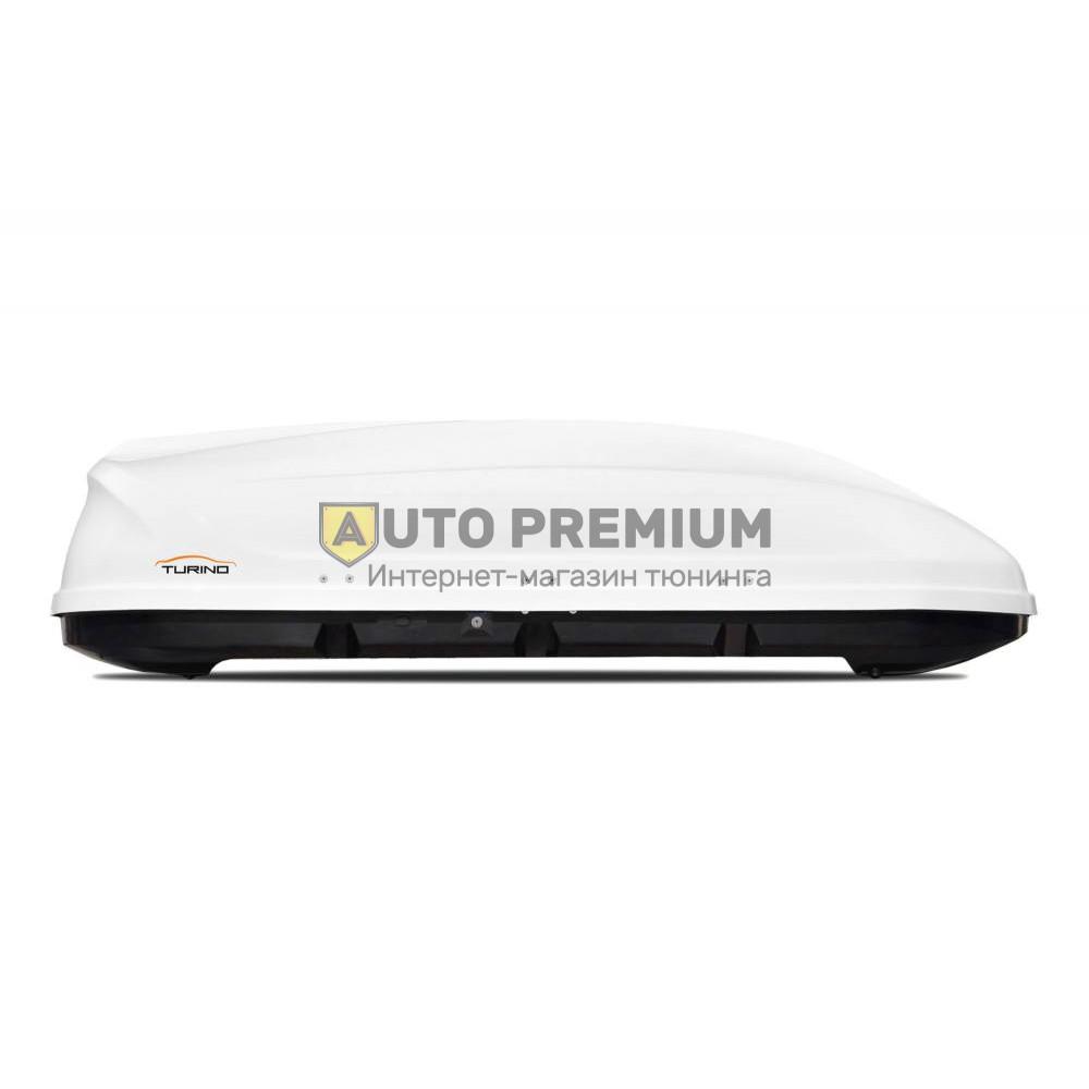 Автобокс на крышу Белый Turino 1 (410 л) Аэродинамический на крышу автомобиля